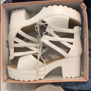 Heeled sandals never worn